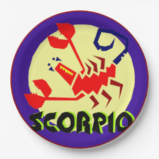 Horoscope Astrological Zodiac Sign Scorpio Plates