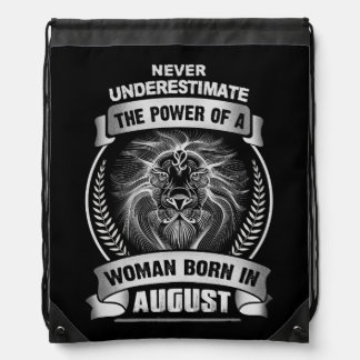 Horoscope August Drawstring Bag