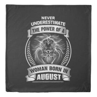 Horoscope August Duvet Cover
