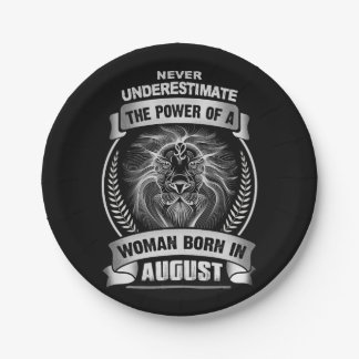 Horoscope August Paper Plate