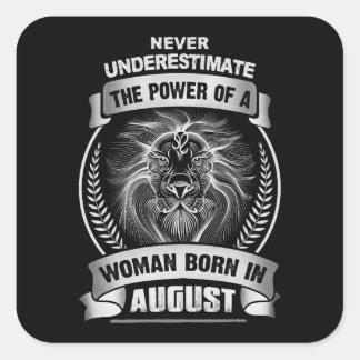 Horoscope August Square Sticker