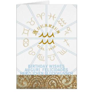HOROSCOPE ~ Birthday Greeting Card Aquarius