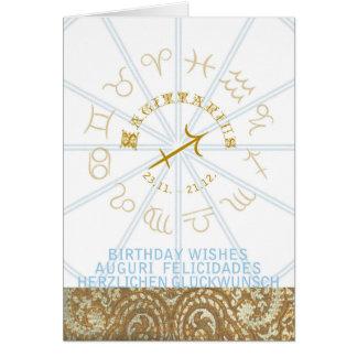 HOROSCOPE ~ Birthday Greeting Card Sagittarius