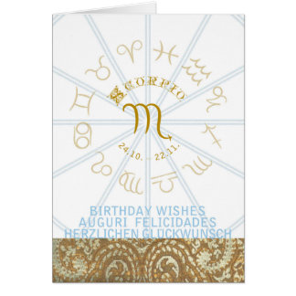 HOROSCOPE ~ Birthday Greeting Card Scorpio