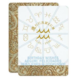HOROSCOPE ~ Birthday Invite - Aquarius
