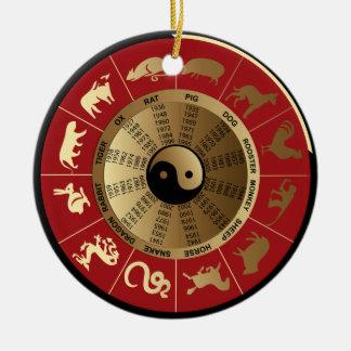 horoscope chinese zodiac ceramic ornament