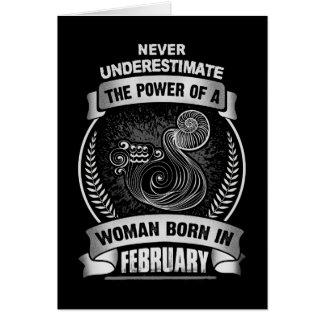 Horoscope February Card