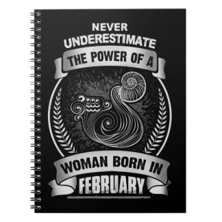 Horoscope February Spiral Notebook