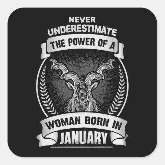 Horoscope January Square Sticker