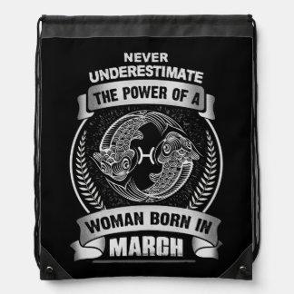 Horoscope March Drawstring Bag