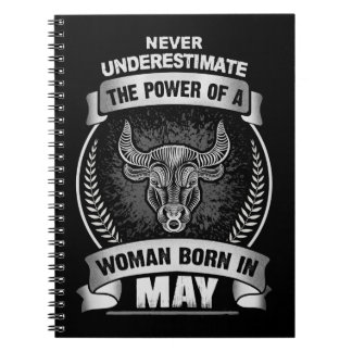 Horoscope May Spiral Notebook