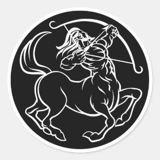 Horoscope Sagittarius Centaur Zodiac Sign Classic Round Sticker