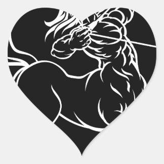 Horoscope Sagittarius Centaur Zodiac Sign Heart Sticker