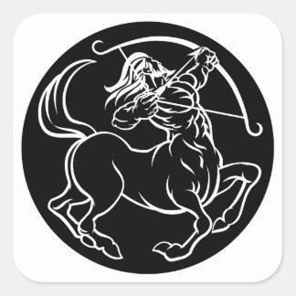 Horoscope Sagittarius Centaur Zodiac Sign Square Sticker