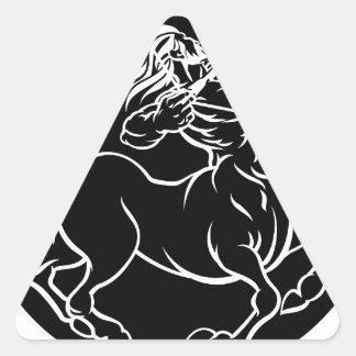 Horoscope Sagittarius Centaur Zodiac Sign Triangle Sticker