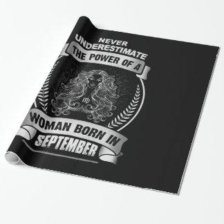 Horoscope September Wrapping Paper