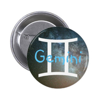 Horoscope Sign Gemini Stars at night Button