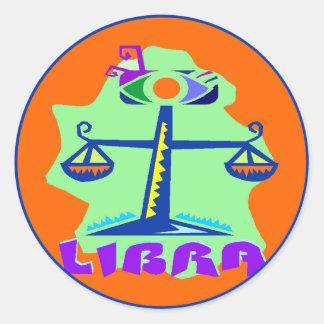 Horoscope Sign Libra Horoscope Scale Symbol Round Sticker
