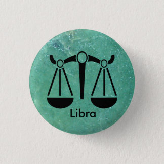 Horoscope Sign Libra, Scale Zodiac Symbol Button