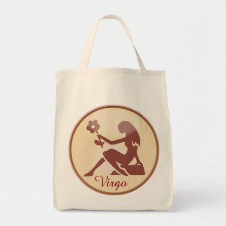 Horoscope Sign Virgo Tote Bag Earth Toned