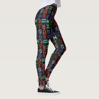 Horoscope Symbols Pattern Women's Leggings