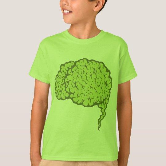 Horrible Green Zombie Brain Kids Tshirt