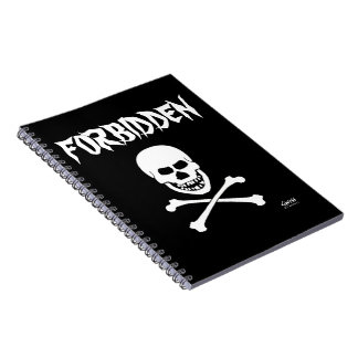 Horrible Scary Evil Grinning Skull Forbidden Note Book