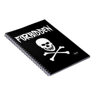 Horrible Scary Evil Grinning Skull Forbidden Notebook