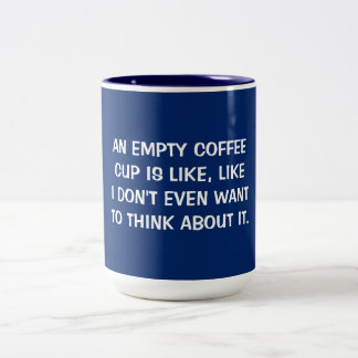 HORRIBLE THOUGHTS COFFEE CUP