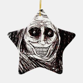 Horrifying House-guest, Never Alone, Uninvited Ceramic Star Ornament