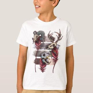 Horror Animal Curse Skeleton Skull T-Shirt
