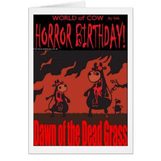 HORROR BIRTHDAY! CARD