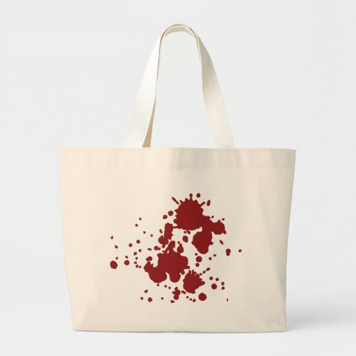 horror blood stains tote bags