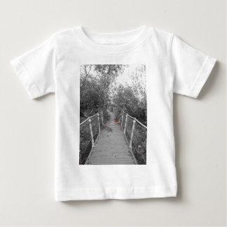 Horror bridge. Image of old wooden bridge Baby T-Shirt