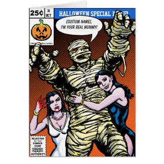 Horror Comic Style Halloween Greetings Card