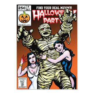 Horror Comic Style Halloween Party Personalized Invite