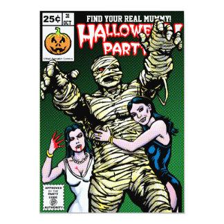 Horror Comic Style Halloween Party Custom Invitation