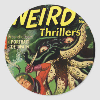 Horror Comic: Weird Thrillers 4 Classic Round Sticker