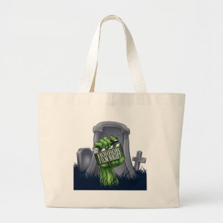 Horror Film Zombie or Monster Clapper Board Sign Large Tote Bag