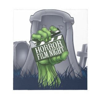 Horror Film Zombie or Monster Clapper Board Sign Notepad