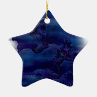 Horror Ghost Skeleton Ceramic Star Ornament