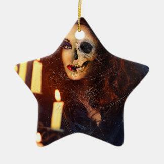 Horror Girl Candle Freak Creepy Horror Ceramic Star Ornament