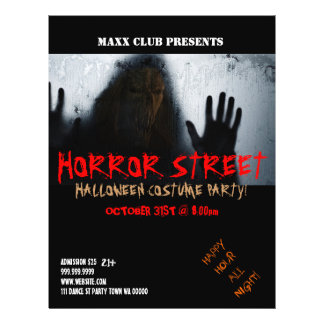 Horror Halloween Party Event Announcement Flyer