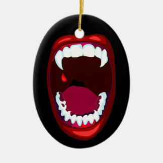 Horror Mouth Vampire Teeth Fangs Ornament