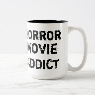 Horror Movie Addict White Mug