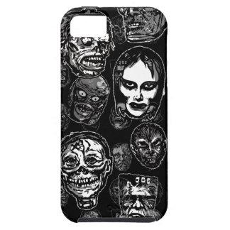 Horror Movie Monster Masks (b&w) iPhone 5 Cases