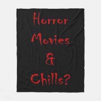 Horror Movies & Chills? Fleece Blanket