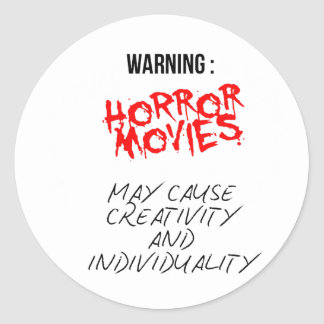 Horror Movies Round Sticker