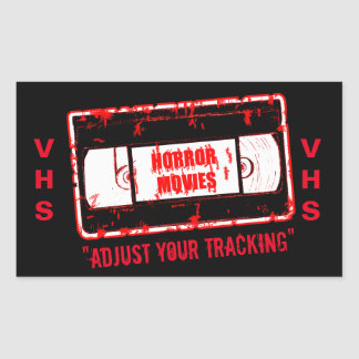 Horror Movies -Video Cassette Adjust Your Tracking