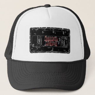 Horror Movies - Video Cassette Black on Black Trucker Hat